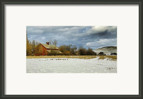 Winter Farm Framed Print By Steve Mckinzie