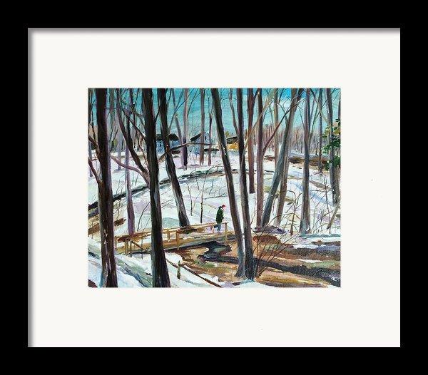Winter Footbridge Framed Print By Scott Nelson