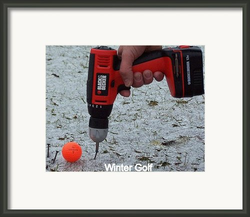 Winter Golf Framed Print By Robert Harmon