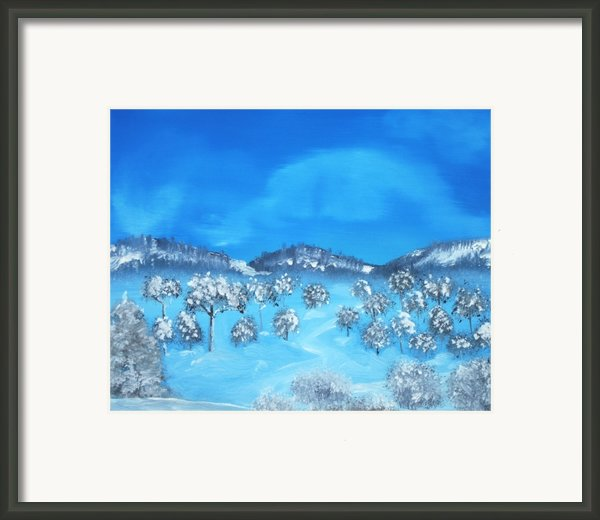 Winter Hills Framed Print By Anastasiya Malakhova