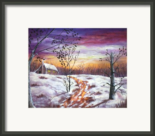 Winter House Framed Print By Anastasiya Malakhova