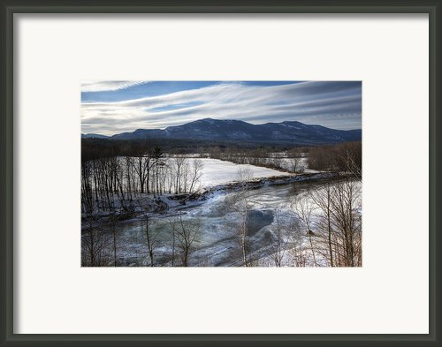 Winter In North Conway Framed Print By Eric Gendron