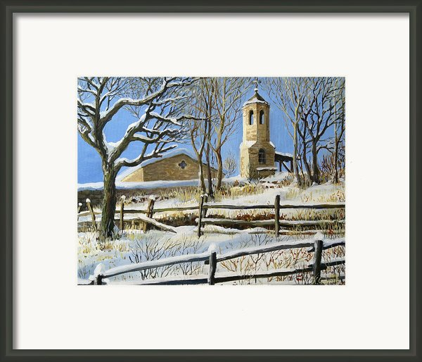 Winter In Stoykite Framed Print By Kiril Stanchev