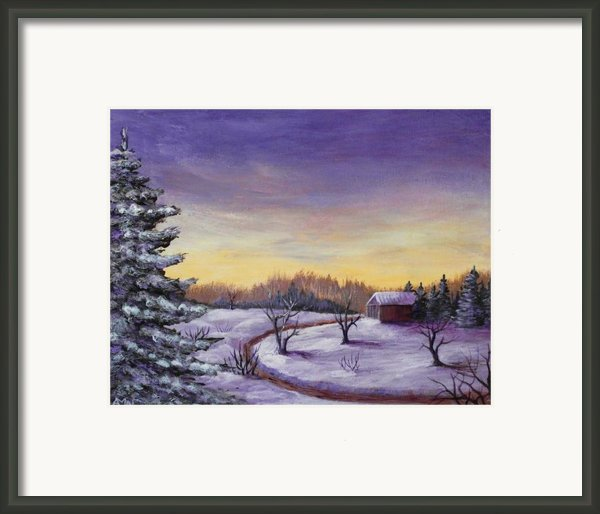 Winter In Vermont Framed Print By Anastasiya Malakhova