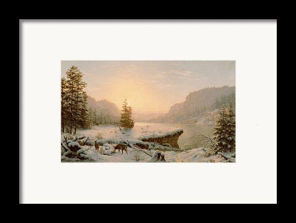 Winter Landscape Framed Print By Mortimer L Smith