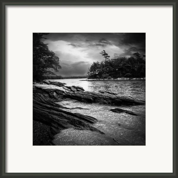 Winter Moonlight Wolfes Neck Woods Maine Framed Print By Bob Orsillo