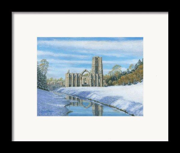 Winter Morning Fountains Abbey Yorkshire Framed Print By Richard Harpum