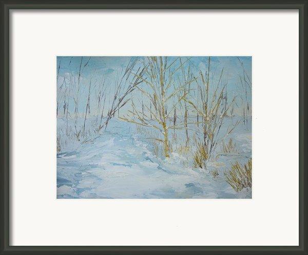 Winter Scene Framed Print By Dwayne Gresham