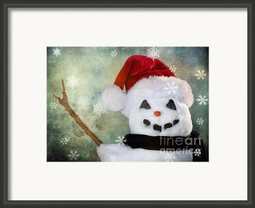 Winter Snowman Framed Print By Cindy Singleton
