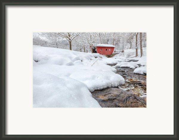 Winter Stream Framed Print By Bill  Wakeley