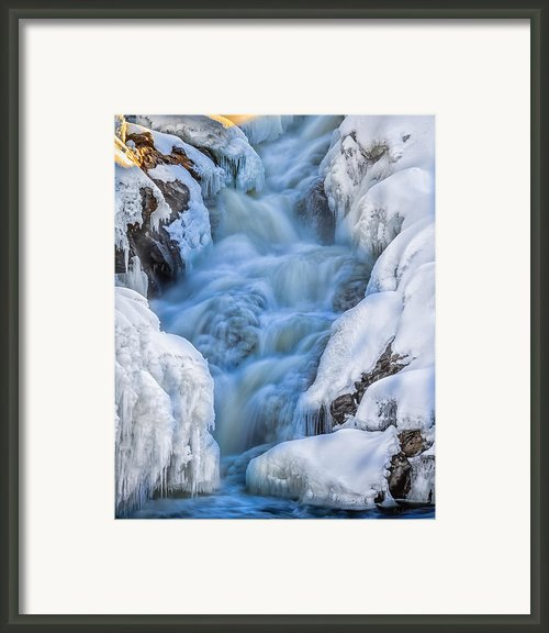 Winter Sunrise Great Falls Framed Print By Bob Orsillo