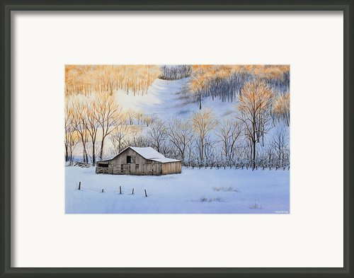 Winter Sunset Framed Print By Michelle Wiarda