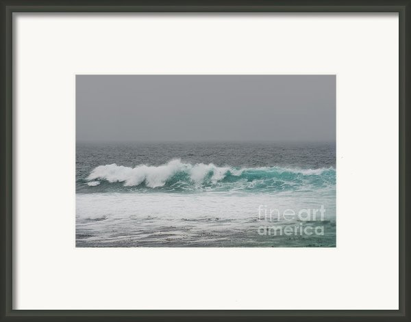 Winter Waves Framed Print By Artist And Photographer Laura Wrede