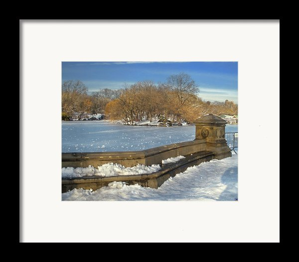 Wintery Afternoon At Bathsheba Terrace Framed Print By Muriel Levison Goodwin