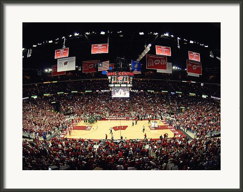Wisconsin Badgers Kohl Center Framed Print By Replay Photos