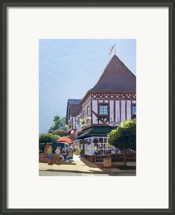 With Friends At Stratford Square Framed Print By Mary Helmreich