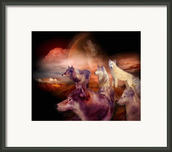 Wolf Mountain Framed Print By Carol Cavalaris