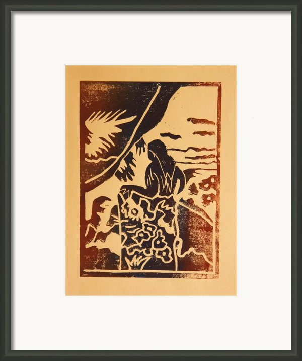 Woman Ii A La Gauguin Framed Print By Christiane Schulze