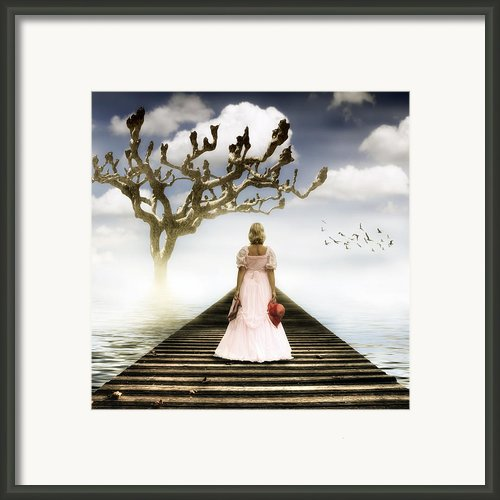 Woman On Pier Framed Print By Joana Kruse