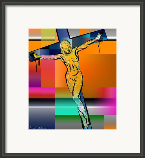 Woman On The Cross Framed Print By Mark Ashkenazi