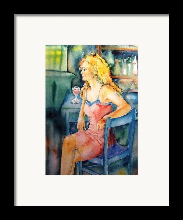Woman Waiting  Framed Print By Trudi Doyle