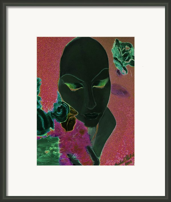 Woman With Roses Framed Print By Michael Kulick