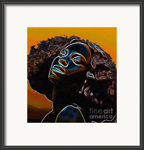 Womans Essence Ii              Framed Print By Byron Fli Walker