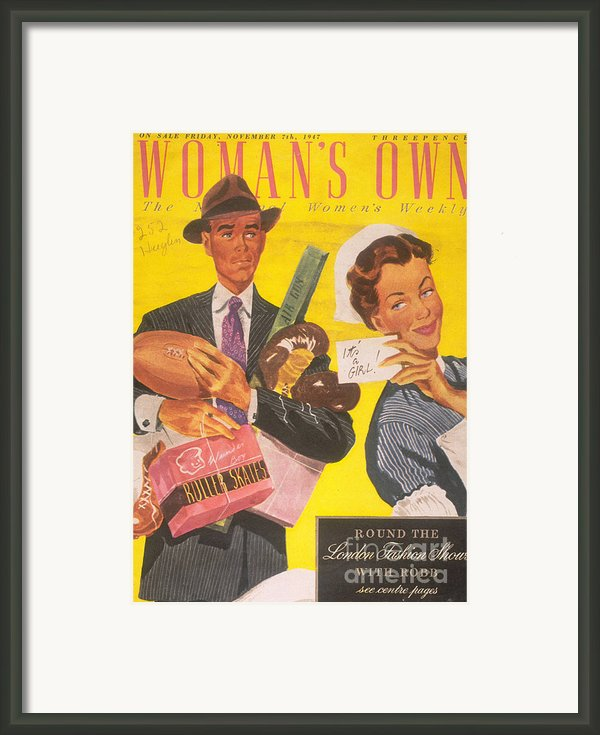 Womans Own 1940s Uk Babies Nurses Framed Print By The Advertising Archives