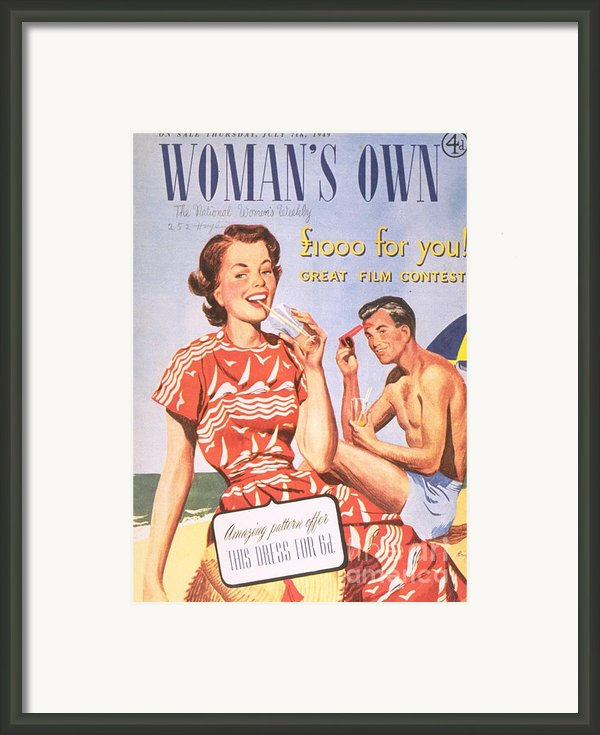 Womans Own 1949 1940s  Uk Holidays Framed Print By The Advertising Archives