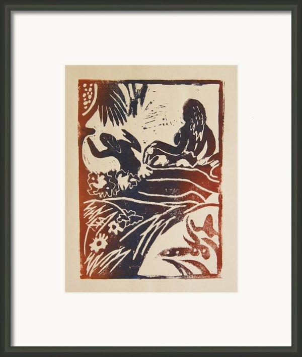 Women I A La Gauguin Framed Print By Christiane Schulze Art And Photography