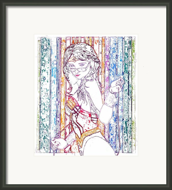 Wonder Woman April Frosted Edition Framed Print By Justin Moore