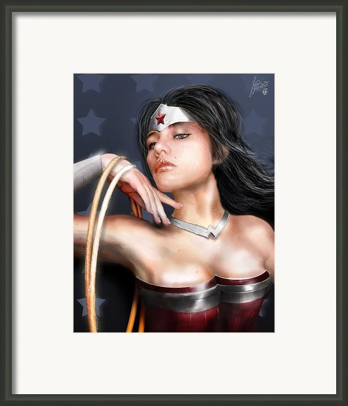 Wonder Woman Framed Print By Jason Longstreet