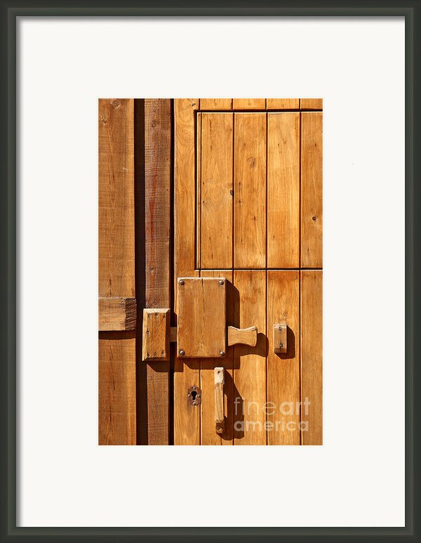 Wooden Door Detail Framed Print By Carlos Caetano