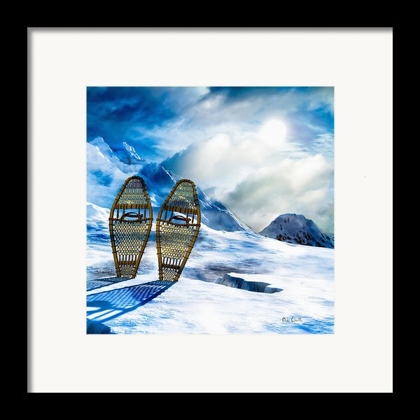 Wooden Snowshoes  Framed Print By Bob Orsillo