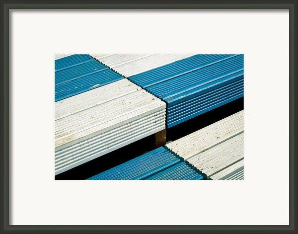 Wooden Steps Framed Print By Tom Gowanlock