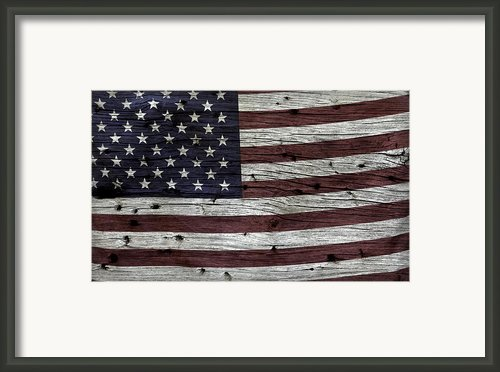 Wooden Textured Usa Flag3 Framed Print By John Stephens