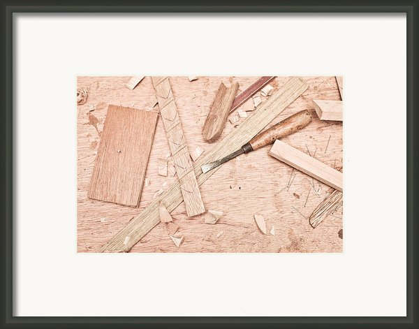 Woodwork Framed Print By Tom Gowanlock