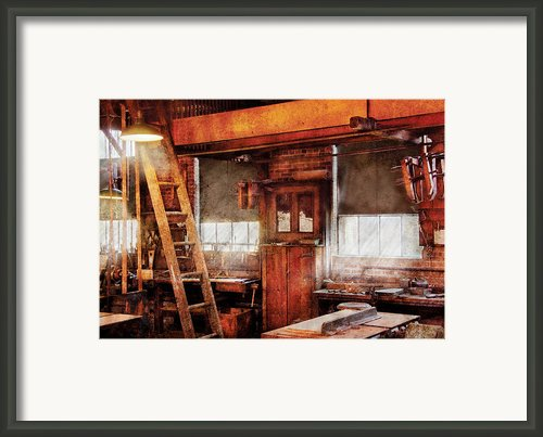Woodworker - Old Workshop Framed Print By Mike Savad