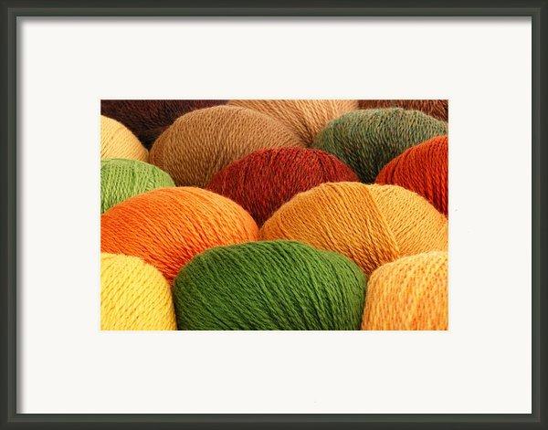 Wool Yarn Framed Print By Jim Hughes