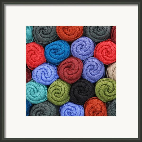 Wool Yarn Skeins Framed Print By Jim Hughes