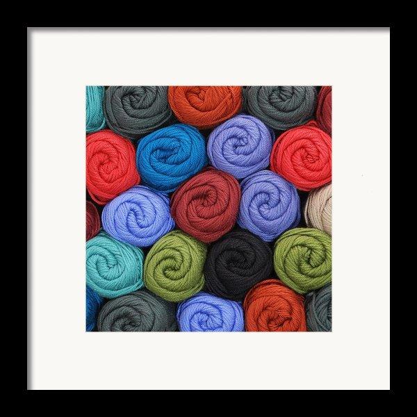 Wool Yarn Skeins Framed Print By Jim Hughes