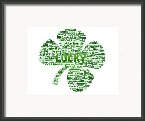 Words - Clover Framed Print By Aged Pixel