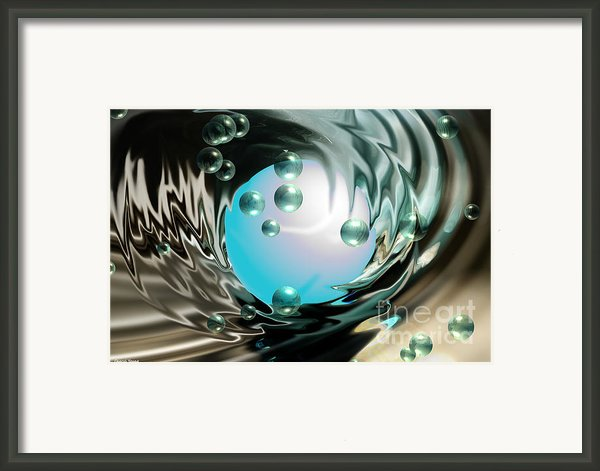 Worlds Apart Framed Print By Cheryl Young
