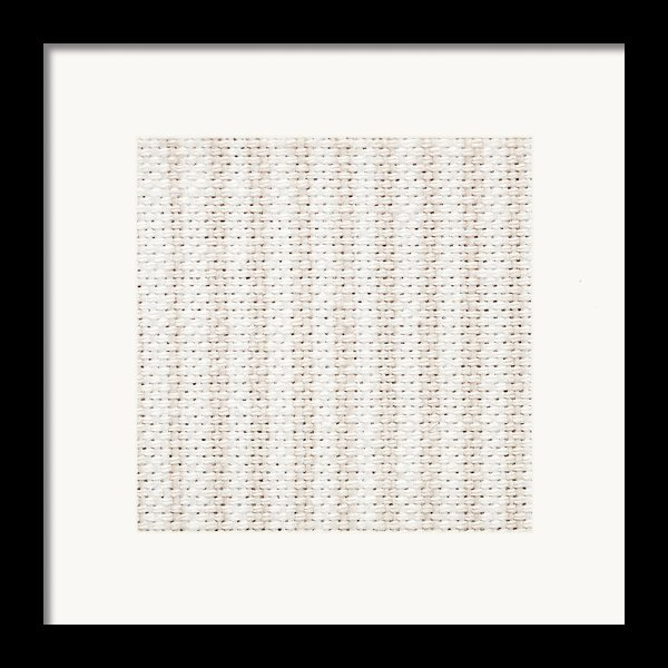 Woven Fabric Framed Print By Tom Gowanlock