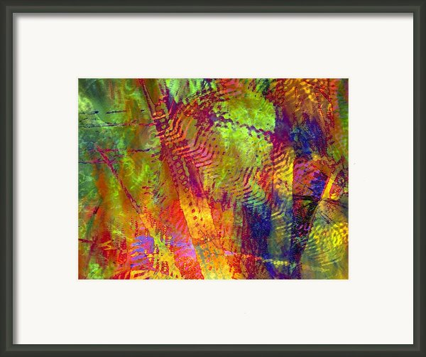 Woven Light Framed Print By Sandy Moulder