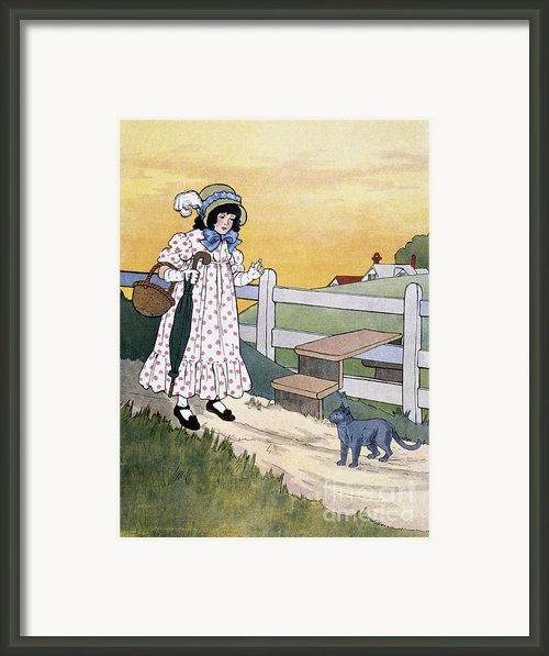 Wright: Pussy Cat Framed Print By Granger