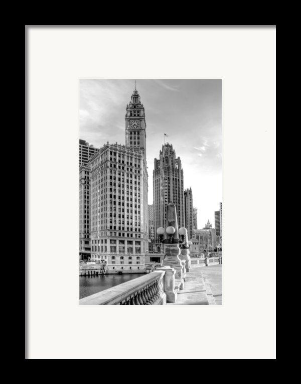 Wrigley And Tribune Framed Print By Scott Norris