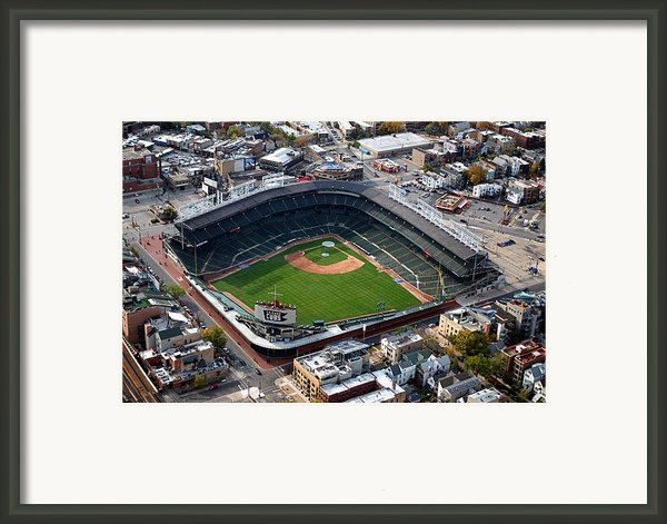 Wrigley Field Chicago Sports 02 Framed Print By Thomas Woolworth