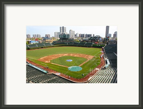 Wrigley Field In Green Framed Print By David Bearden