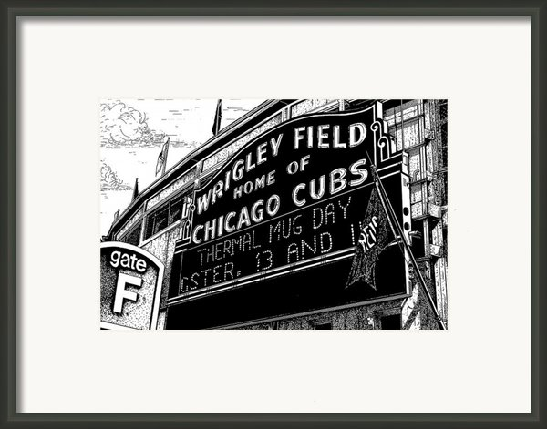 Wrigley Field Marquee Framed Print By Bruce Kay